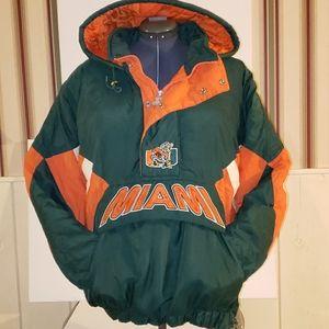 XL vtg 90s Starter Miami Hurricanes Coat vintage